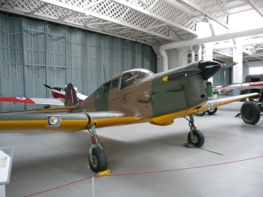 [Duxford IWM contains aircraft such as the Percival Proctor III]